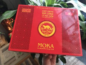 Cà Phê Chồn Moka Cao Cấp Hộp Gỗ Sơn Mài - CIVET Coffee Moka