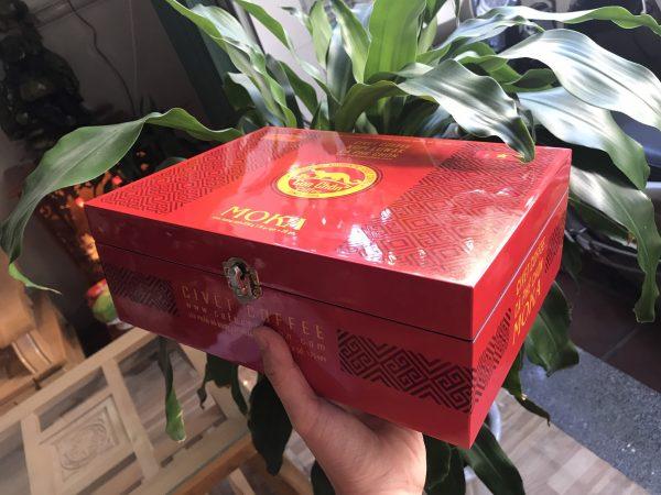 Cà Phê Chồn Cao Cấp Hộp Gỗ Sơn Mài - CIVET Coffee Moka